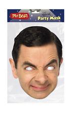 Mr Bean Face Party Mask Card A4 Fancy Dress Film Actor Mens Kids Rowan Atkinson