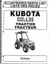 Kubota L35,TL720,BT900 Tractor,Loader,Backhoe,Illustrated Parts Manuals 3pc set
