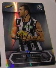 Travis Cloke (Collingwood FC)  signed 2015 AFL Select Silver Insert Card + COA