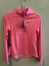 Nike Dri-Fit Girl'S Sz Xl Pink 1/2 Zipper Long Sleeve New With Tags $45