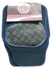 Seat Leon (13-Now Navy Blue 650g Velour Carpet Car Mats - Rubber Heel Pad