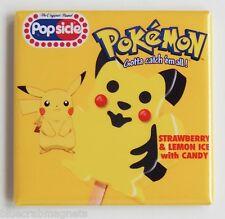 Pokemon Gelato Calamita Frigo (7.6x7.6cm) Firmare Etichetta Ghiacciolo Pikachu