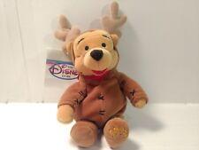 "Winnie The Pooh As A Reindeer Mini Bean Bag 8"" Stuffed Animal t1922"