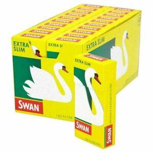 Swan Extra Slim Smoking Cigarette Filter Tips Full Box (20 Packs) Only £10.79