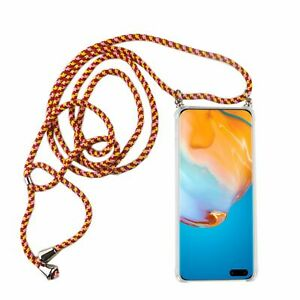 Huawei P40 Pro Mobile Case With Band Case To Sling On With Cord Case Red