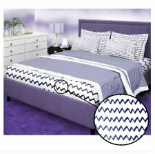 Bedsheet Fitted Sheet Cover Linen Collection with Pillowcase - (QUEEN) - BLUISH