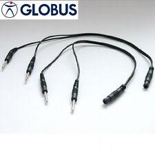 Globus 2 CAVETTI SDOPPIATORI raddoppia uscite elettrostimolatore cavi jack