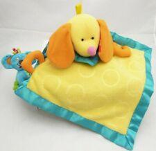 Fischer Price doudou couverture chien jaune et bleu polaire tissu 38 cm environ