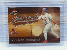 2005 Fleer Platinum Albert Pujols Lumerjacks Game Used Bat Relic Cardinals T95