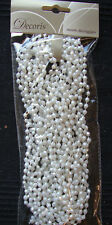 Christmas Beaded Garland Decoration Winter White 270cm Wedding Bead Garland