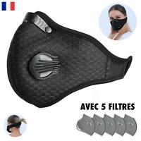 Protection Anti Pollution et Anti Poussière - Avec CINQ Filtres, Lavable, Noir