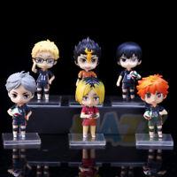 6pcs/set Haikyuu!! Hinata Syouyou Oikawa Tooru PVC Figure Toy No Box 10cm