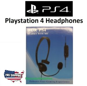New PlayStation 4 PS4 Stereo Wired Gaming Headset Headphones with Microphone NIB