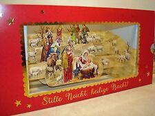Weihnachtspanorama Papierkrippe 3-D-Panorama-Karte mit goldenem Kuvert Pop-up
