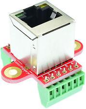 RJ45 8P8C female Breakout Board, network, Ethernet,  eLabGuy RJ45-BO-V2AV