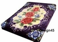 Solaron Korean Blanket throw Thick Mink Plush King size Roses Original new