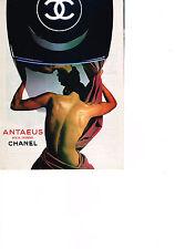 PUBLICITE ADVERTISING  1984   ANTAEUS  pour CHANEL  eau de toilette parfum homme