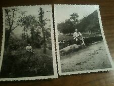 2 photos alsace occupation allemande WW II Nazi SS 1942 metzeral braunkopf II