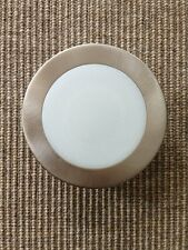 "4"" INCH RECESSED CAN LIGHT SATIN NICKEL SHOWER TRIM FROSTED GLASS  LENS"