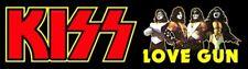 KISS BAND CUSTOM LOVE GUN BUMPER STICKER - 10 L x 3 W.