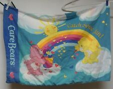 Care Bears Pillow Case Rainbow Cloud Friendship Funshine Love A Lot