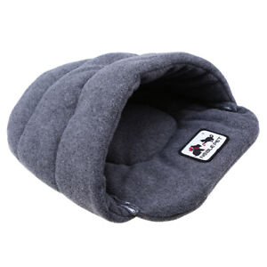 Pet Dog Cat Sleeping Bag Mat Pad Cave House Warm Soft Nest Kennel Bed Gray