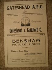 More details for gateshead  v  guildford city  51/2  fa cup.