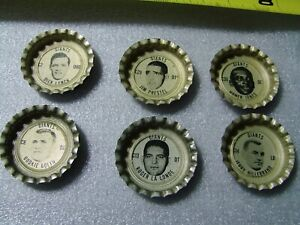 "Lot of six 1966 NFL Coke - Tab Giants Bottle Cap ""UNUSED"""
