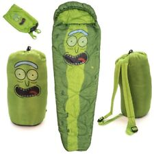 NEW Dreamtex Adult Swim Rick and Morty Pickle Rick 1-2 Season Mummy Sleeping Bag