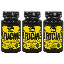 Leucine L-leucine Muscle Building Amino Acid Lean Muscle Tissue 3 x 30 caps