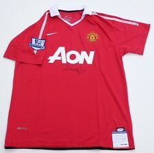 WAYNE ROONEY SIGNED MANCHESTER UNITED JERSEY (RED) PSA COA AD74537