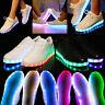 Fashion Women Men Light Up Sport Fluorescent Tennis Sneakers Luminous Flat Shoes