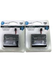 2 PACK Cordless Phone Battery 3.6V 750Mah Nimh V-Tech ATT Motorola GE Sanyo RCA