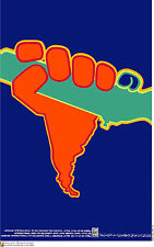 Political cuban POSTER.Latin America in Arms.Guerrilla9.World Revolution Art