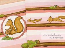 "Jersey-Stoff Kinder Baby Mädchen Eichhörnchen rosa ""mia&max #rose"" Panel 0,45m"