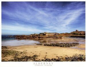 Fort Corblets on the Channel Island of Alderney-Victorian Fort & adjoining beach