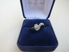 Bague or blanc et diamants./  Ring in 18 carat white gold with  diamonds.