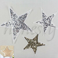 Five-pointed star embroidered Iron on patch sewn on For clothing applique Sequin
