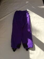 "Vintage 80's Ladies Quality Purple Ski Trousers Sz Waist 26"" #26 Ideal Festival"