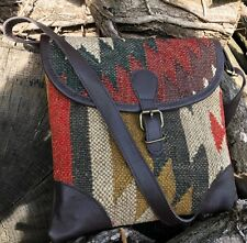 NEW HAND MADE KILIM GAUCHO SATCHEL CROSS BODY BAG LEATHER SHOULDER BODY IPAD