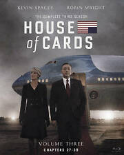 House of Cards The Complete Third 3rd 3 Season (Blu-ray 2015 4-Disc Set) NEW