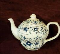 Vintage Nikko Ironstone Ming Tree Blue Teapot Double Phoenix