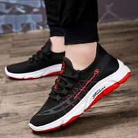 Men's Breathable Sneakers Student Casual Shoes Low-top Lace-up Running Shoes UK