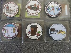 Unactivated Seven Coin set of Trackable Winterfest Geocoins