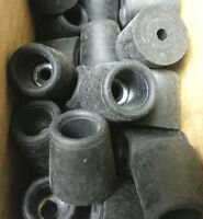 # 2815 Pack Of 10 Rubber Feet Recessed Bumpers  A=3/4, B=3/4, C=17/32, D=7/32,
