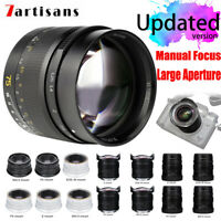 7artisans 50mm 75mm F1.25 F2 F1.2 F1.4 Manual Focus Lens for Canon Sony Leica