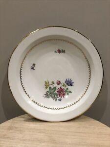 Porcelaine Limoges PL Ancien Plat creux décor Fleurs