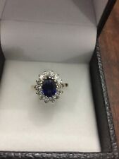 Stunning Quality Vintage Sapphire 9ct Gold Ring Size N/O US 7