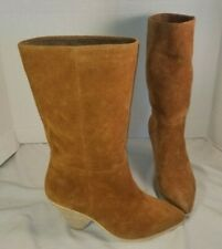 NEW JEFFREY CAMPBELL STELLA BROWN SUEDE SLOUCH BOOTS US  7