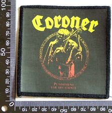 GENUINE CORONER EMBROIDERED JACKET PATCH THRASH METAL BAND SEW-ON CLOTH BADGE